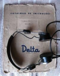 Catálogo Instruções do Transmissor Delta 310 e Headfone Antigo (Para Colecionador)