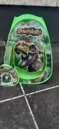Tenda dinossauros dobrável- medidas: 0.72 x 0.70 x 0.92 cm.- nova.