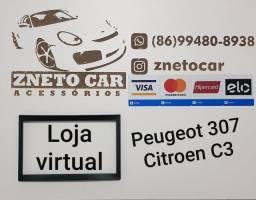 Moldura 2 din multimídia Peugeot 307 e Citroen C3