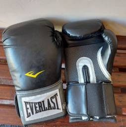 Luva Everlast Training + Bandagem +  protetor bucal
