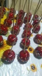 Maçã do amor deliciosas para duas festas junina ou julinas em casa!!!eu faço *