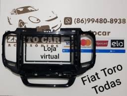 Moldura 2 din multimídia Fiat Toro todas