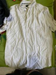 Camisa branco gelo com bolso M