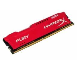 Memória RAM Fury color Vermelho 16GB 1x16GB HyperX HX424C15FR/16