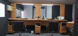 Título do anúncio: Painel, bancada , gabinete, bancos para barbearia