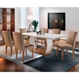 Mesa com 6 cadeiras novo