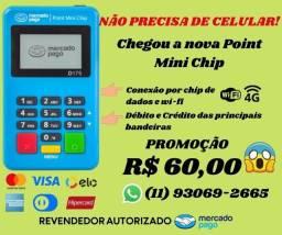 Título do anúncio: Maquininha de cartão Point Mini Chip com NFC (aceita aproximação) do Mercado Pago