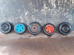 3 rodas aro 15 e 2 aro 14 5 furos