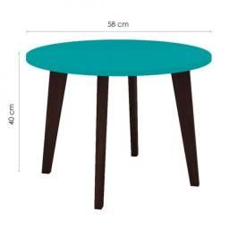 Título do anúncio: Mesa de Centro Redonda - Azul Turquesa