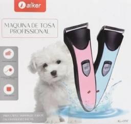 Kit Máquina para Tosa Profissional <br>Sem Fio Cães e Gatos Bivolt - Aiker (entrega grátis)