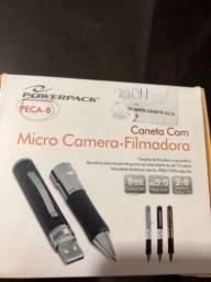 Caneta com micro-câmera filmadora 8GB - nunca usada