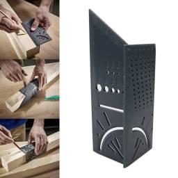 Esquadro Régua 3D Ângulos - Esquadro Japonês