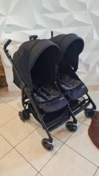 Carrinho Duplo Maxi Cosi Danafor2 com adaptadores para bebe conforto