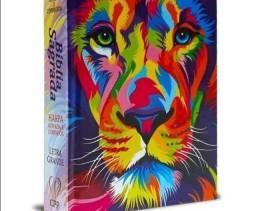 Bíblia Leão color capa dura media com harpa