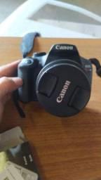 Câmera Canon T6 + Lente do KIT 18-55mm + 2 Baterias + Cartão 32GB + Tripé