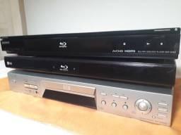 Lote de Blu-ray e DVD Player Sony e LG para REPARO