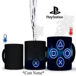 Playstation Caneca Magica PS4 Personalizada Com nome ou nick que quiser