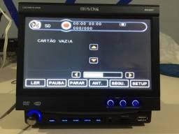 Rádio DVD retrátil da Bravox