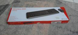 Kit Teclado e Mouse Wireless 800 - Microsoft (A vista e no cartão)