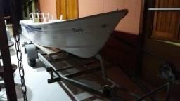 Barco fibra E motor Mercury 15 HP - 2015