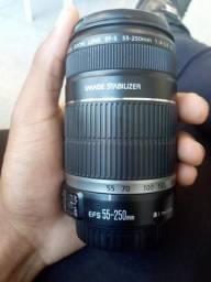 Lente Canon 55-250 4.5-5.6(aceito trocas)