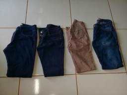 Lote de roupas femeninas tamanho 44