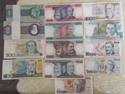 Cedulas para colecionar Todas por R$60