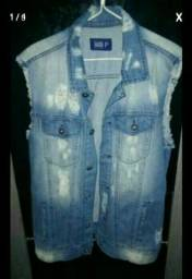 Jaqueta jeans masculino tam p