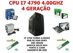 I7 4790 4.00Ghz Ssd 480Gb 8Gb Ddr3 Com AutoCad CorelDraw Photoshop Entrego Jlle
