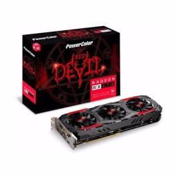 Rx570 4gb PowerColor Red Devil 3 fans. Tr0co por superior