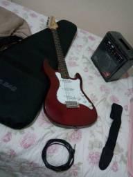 Guitarra nova mais caixa amplificada !