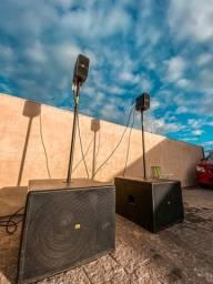 Sistema de som para evento