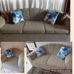 jogo de sofá modelo tradicional grande e confortável!!!