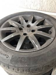 Jogo roda aro 17 furação 4 X 108 com pneus aceito trocas