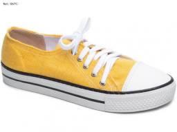 Tênis Feminino Torricella Amarelo Confortável Solado Antiderrapante