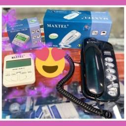 Telefone com fio e identificador de camadas