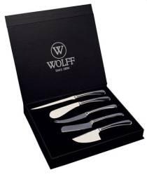Facas de aço inox wolff p/queijo oxford