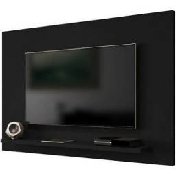 Painel Kenzo para TV até 60 Polegadas Preto Fosco Móveis Bechara