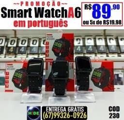 Relógio A6 Tomate em português (entrega grátis)