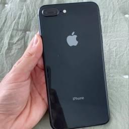 Iphone 8 plus preto novíssimo com nota fiscal completo