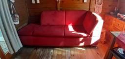 Sofá veludo vermelho