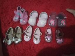 Lote de sapato menina