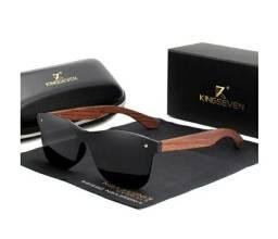 Título do anúncio: Óculos Kingseven polarizado com madeira de Nogueira