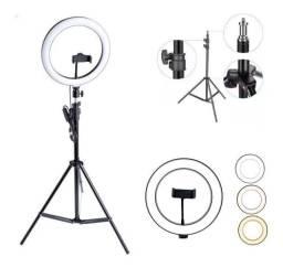 Anel de luz led 12 polegadas + microfone + frete gratis recife