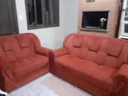 jogo de sofá vermelho