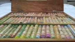 Giz seco Pasteis 72 tons de cores