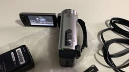 Título do anúncio: Filmadora Sony DCR-SX20 c/ 50x Zoom Optico e LCD 2.7' Prata