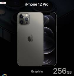 iPhone 12 Pro / 256GB / Novo / 1 ano de garantia / Grafite