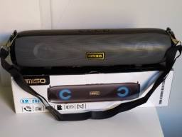 Caixa de Som Bluetooth Redonda Kimiso Km-203 cinza