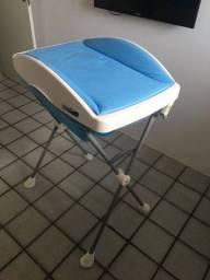 Título do anúncio: Banheira de bebê Burigotto com suporte e trocador